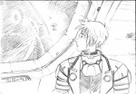 This is the sketch of Alvonse when he first saw Capistad from the ship's window.